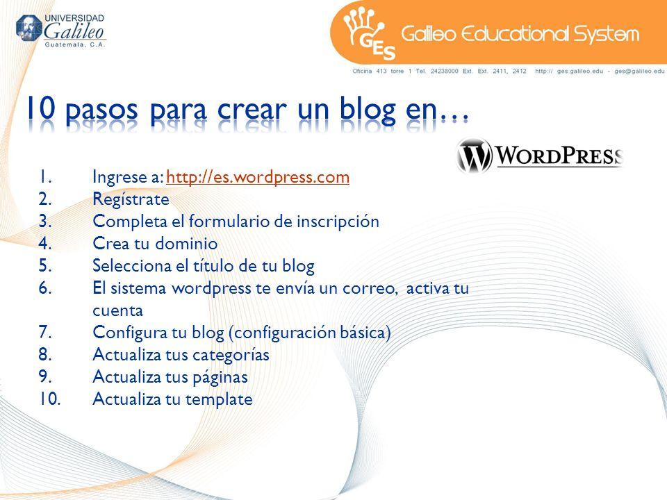 10 pasos para crear un blog en…