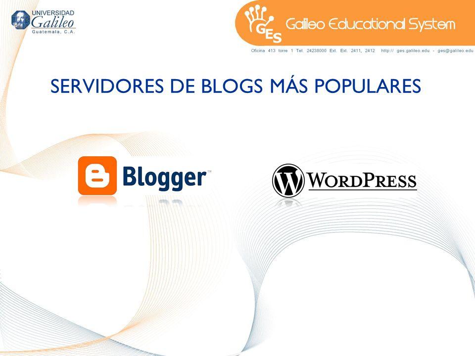 SERVIDORES DE BLOGS MÁS POPULARES