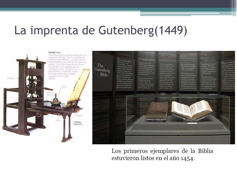 La imprenta de Gutenberg(1449)
