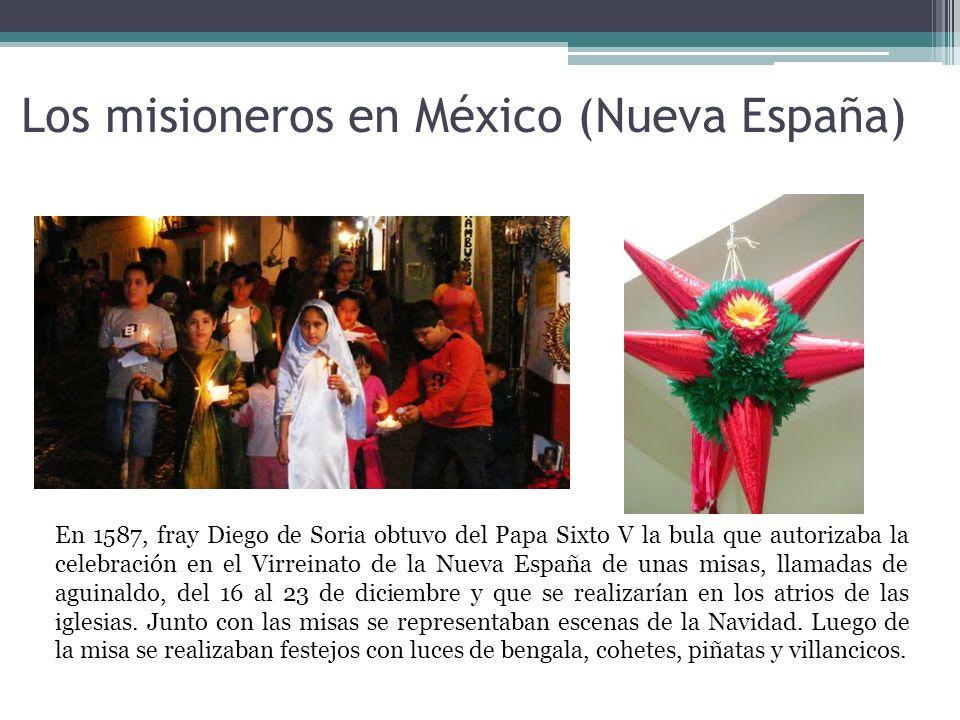 Los misioneros en México (Nueva España)