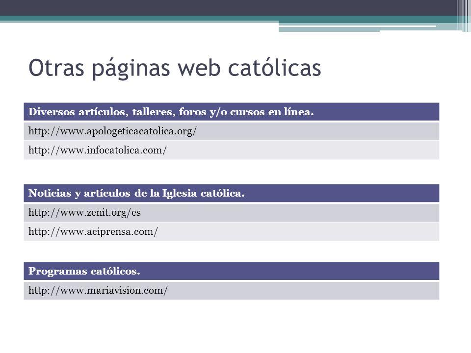 Otras páginas web católicas