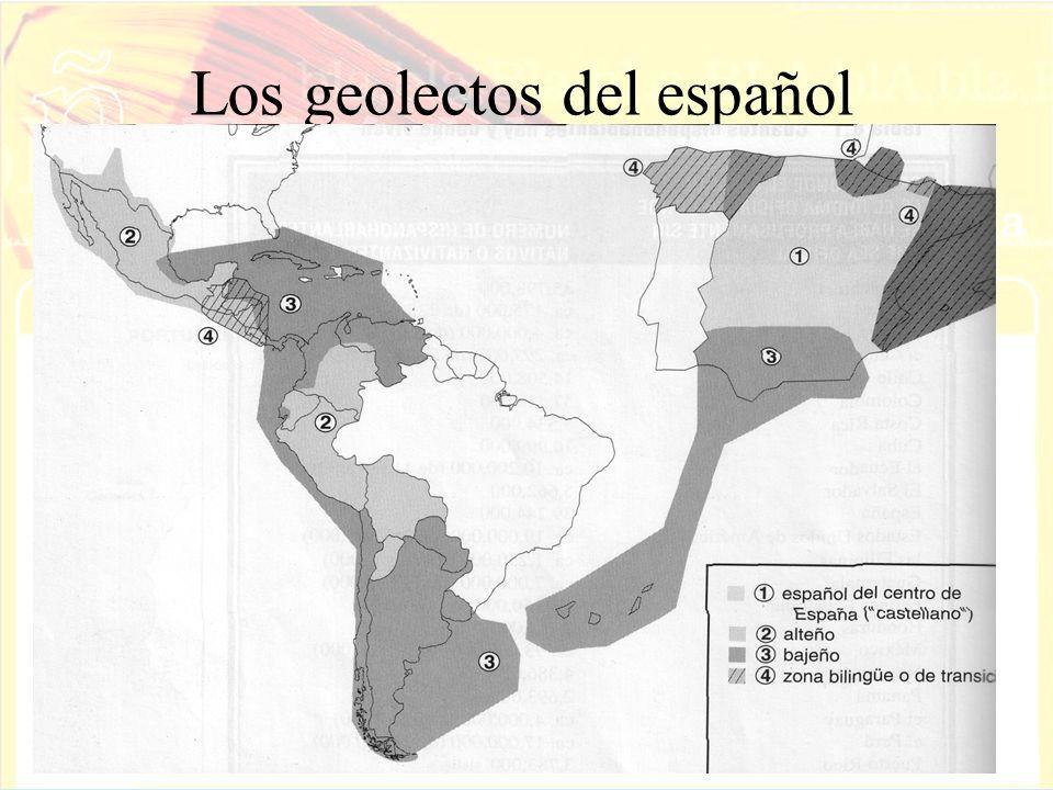Los geolectos del español