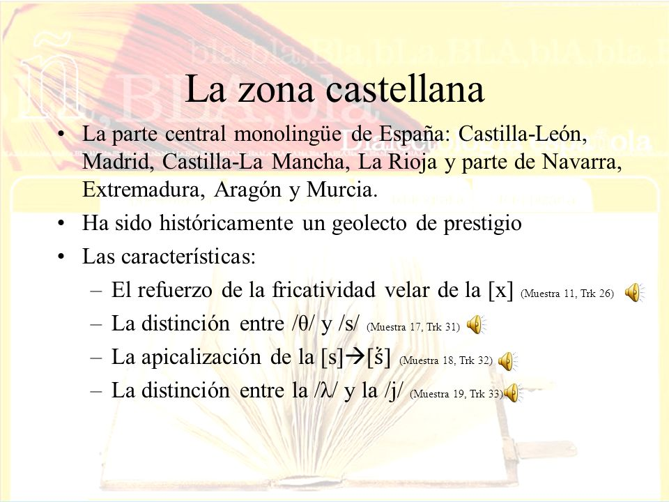 La zona castellana