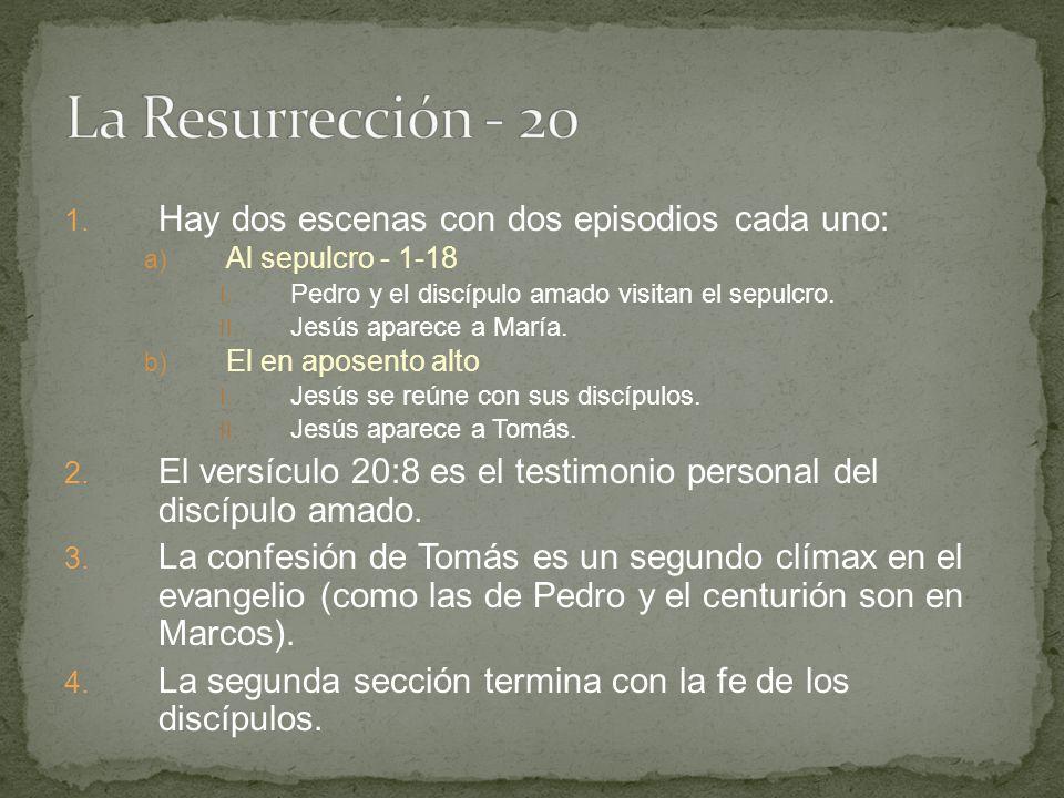 La Resurrección - 20 Hay dos escenas con dos episodios cada uno: