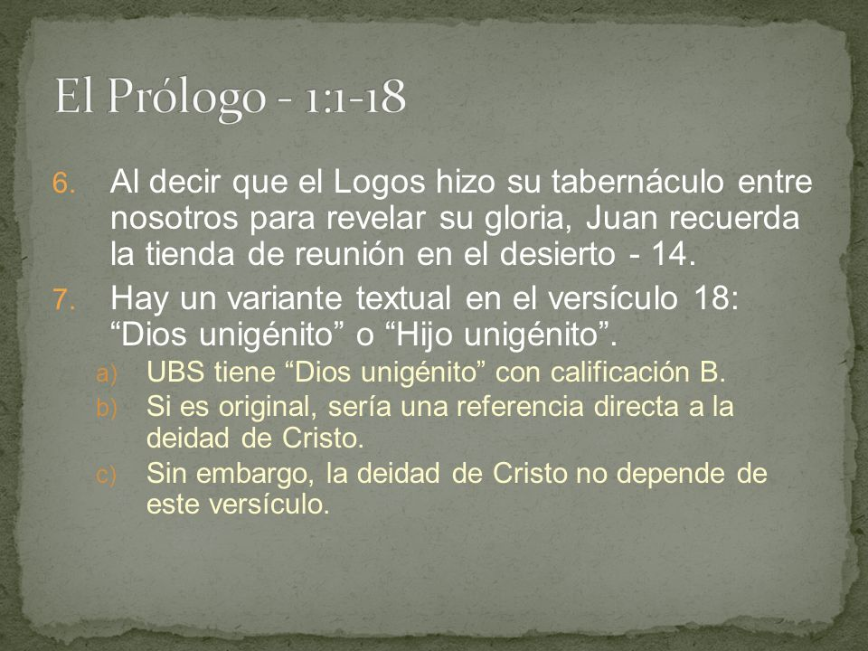 El Prólogo - 1:1-18