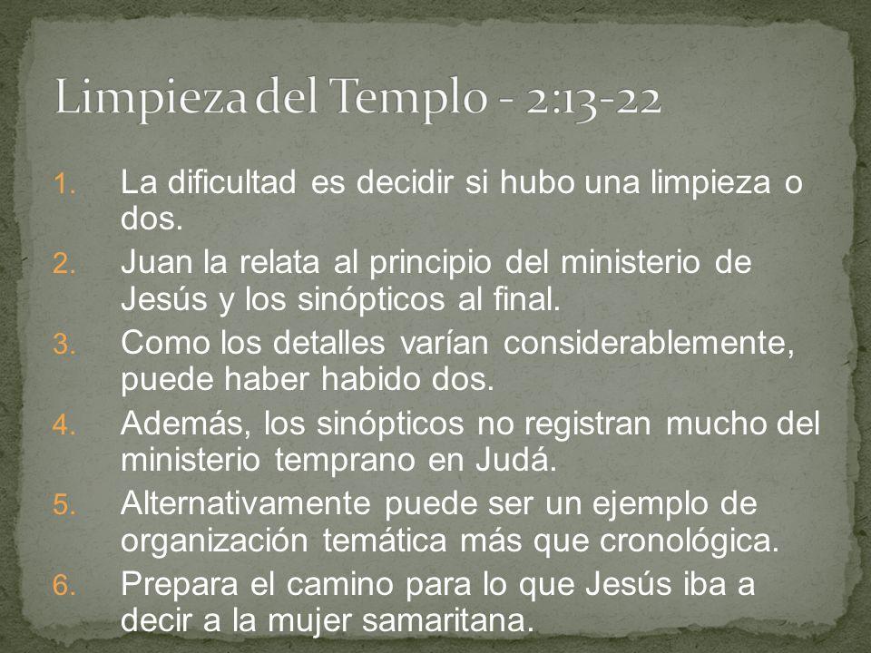 Limpieza del Templo - 2:13-22