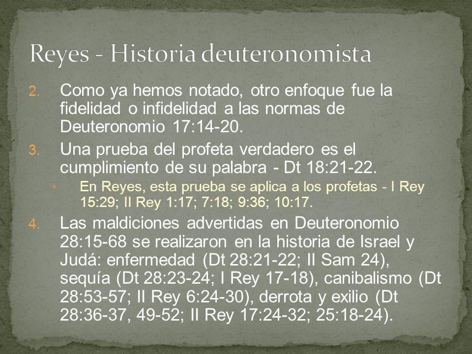 Reyes - Historia deuteronomista
