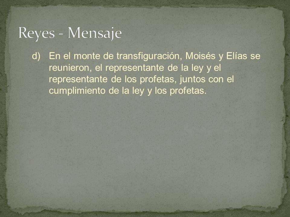 Reyes - Mensaje