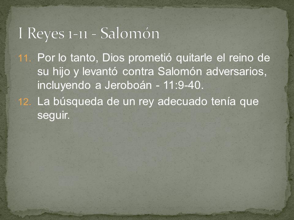 I Reyes 1-11 - Salomón