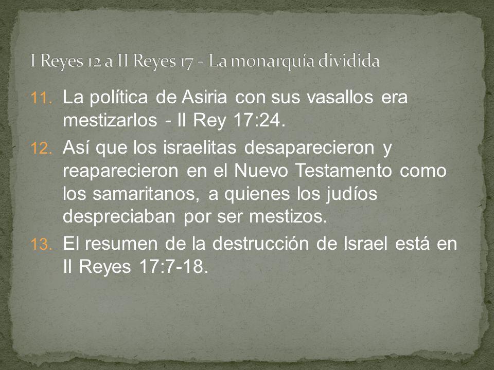 I Reyes 12 a II Reyes 17 - La monarquía dividida