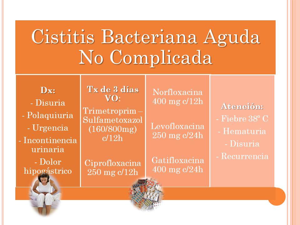 Cistitis Bacteriana Aguda No Complicada