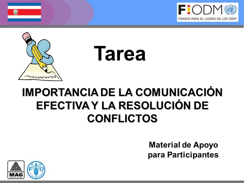 IMPORTANCIA DE LA COMUNICACIÓN EFECTIVA Y LA RESOLUCIÓN DE CONFLICTOS