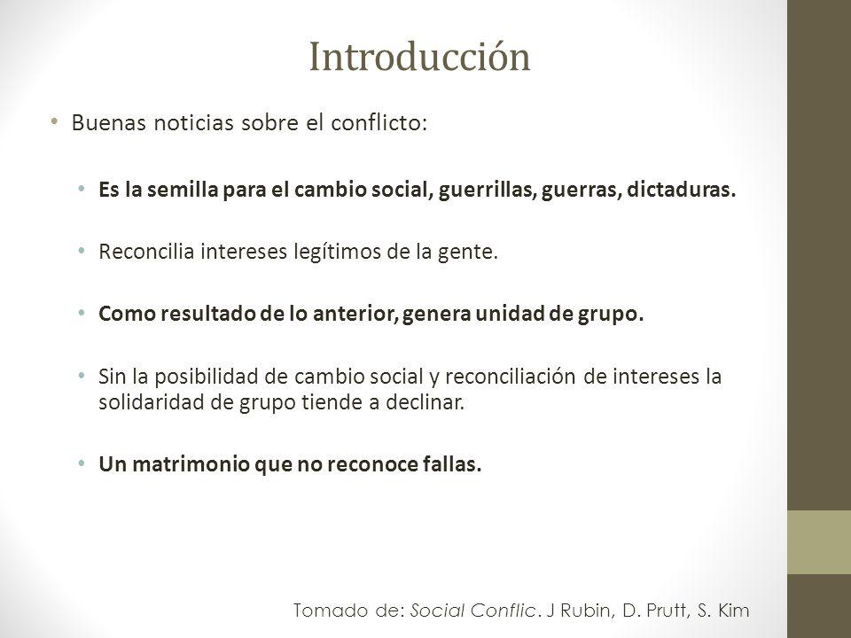 Introducción Buenas noticias sobre el conflicto:
