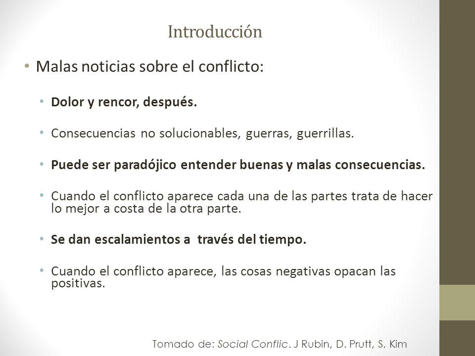 Introducción Malas noticias sobre el conflicto: