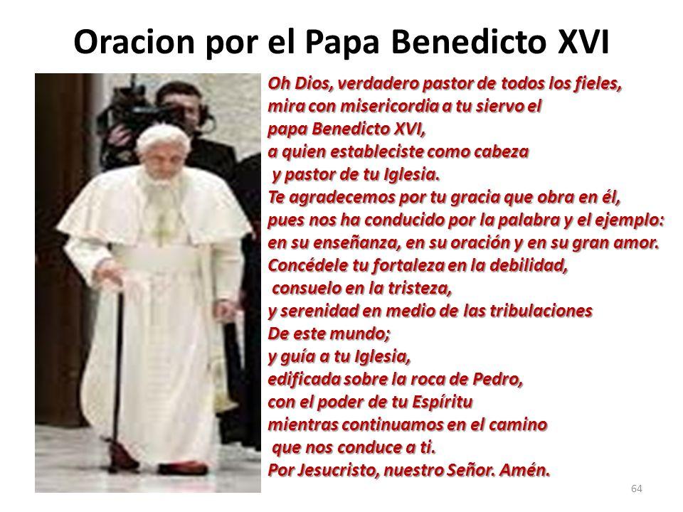 Oracion por el Papa Benedicto XVI