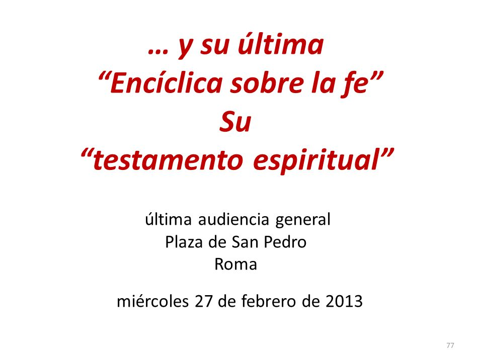 Encíclica sobre la fe