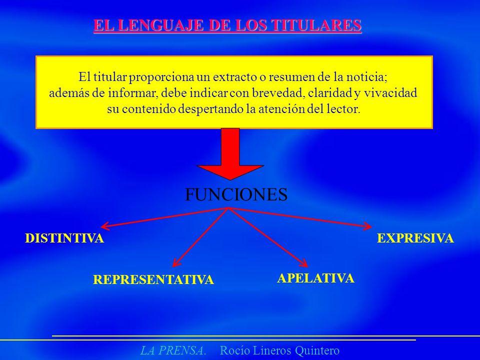 FUNCIONES EL LENGUAJE DE LOS TITULARES