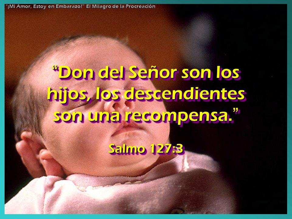Don del Señor son los hijos, los descendientes son una recompensa.