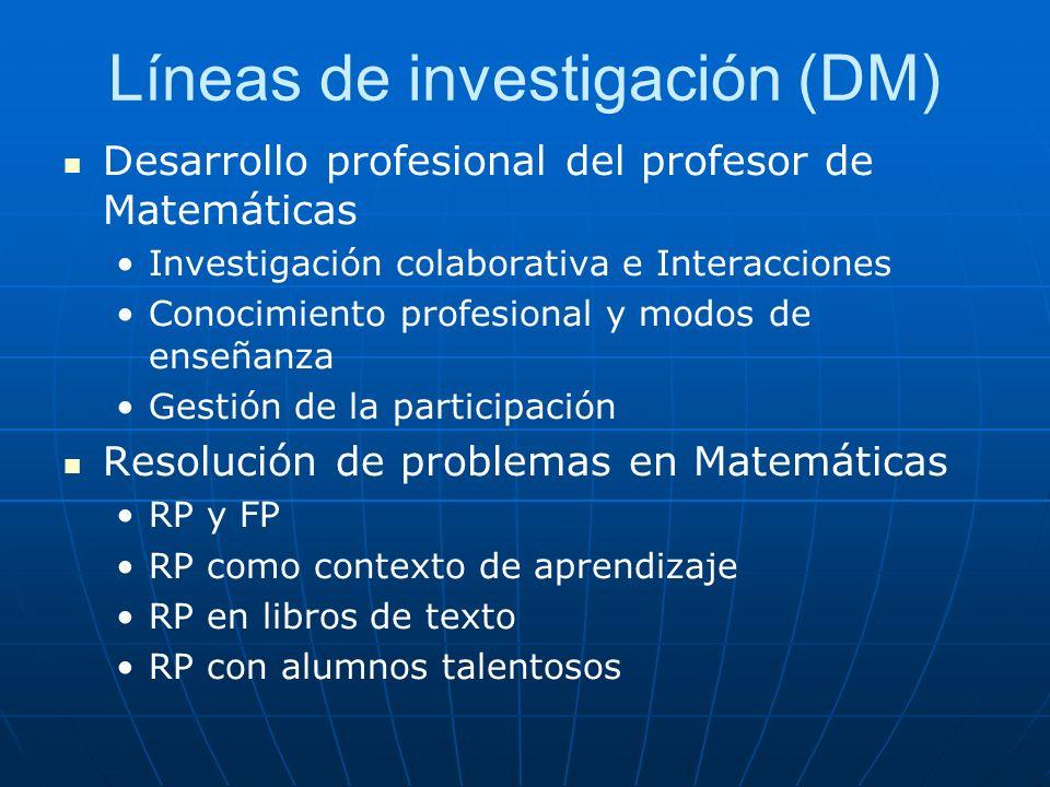 Líneas de investigación (DM)