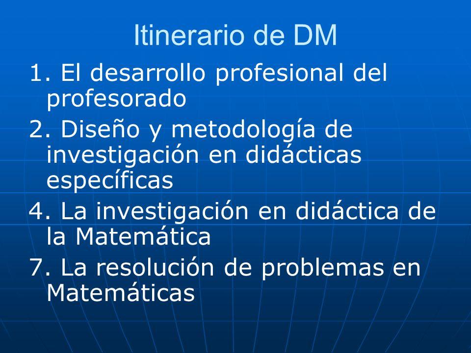 Itinerario de DM 1. El desarrollo profesional del profesorado