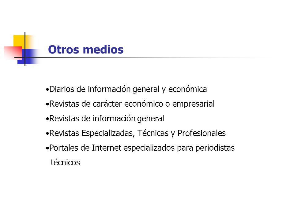 Otros medios Diarios de información general y económica