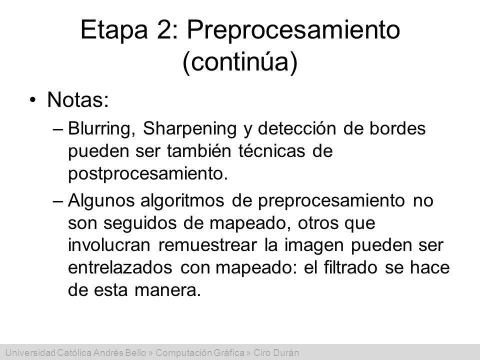 Etapa 2: Preprocesamiento (continúa)