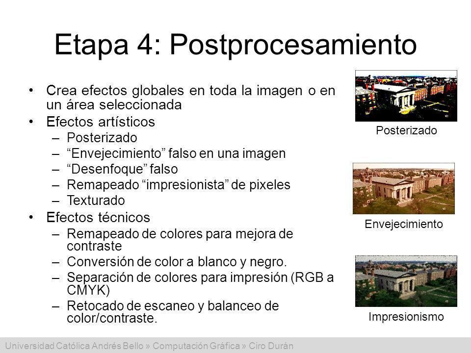Etapa 4: Postprocesamiento