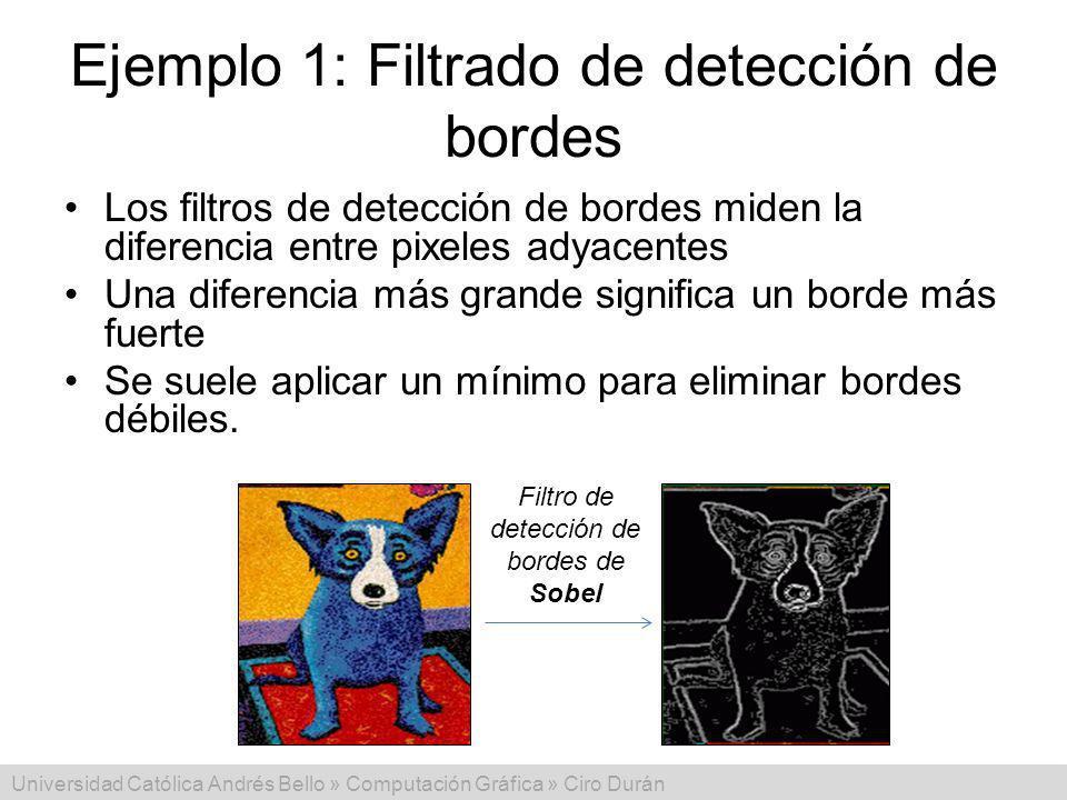 Ejemplo 1: Filtrado de detección de bordes