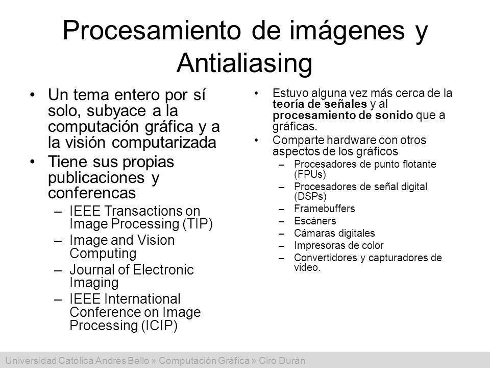 Procesamiento de imágenes y Antialiasing