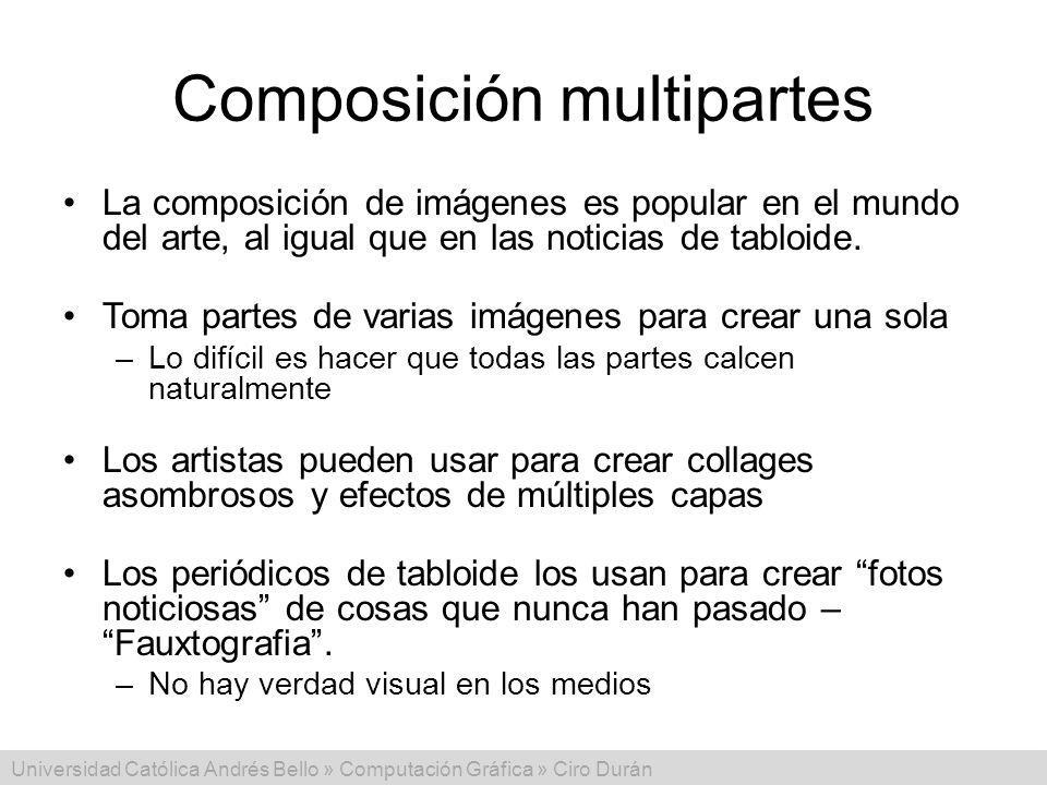 Composición multipartes