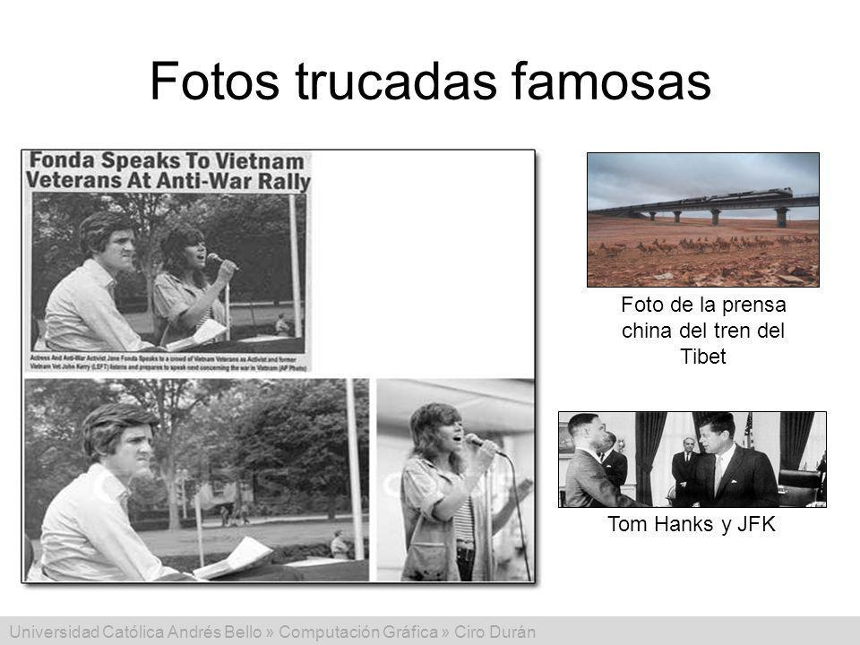 Fotos trucadas famosas