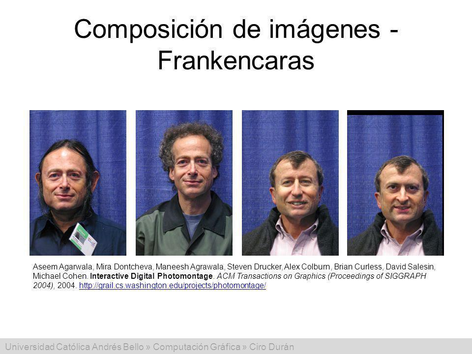 Composición de imágenes - Frankencaras