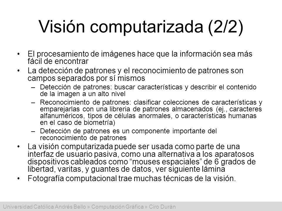 Visión computarizada (2/2)