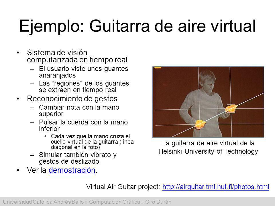 Ejemplo: Guitarra de aire virtual