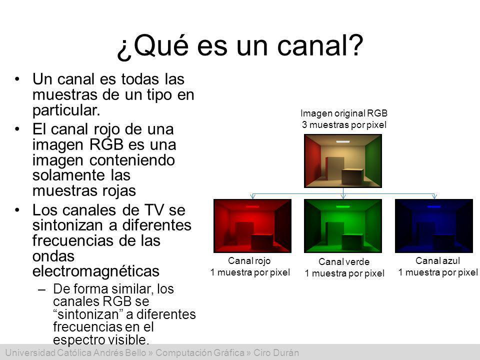 ¿Qué es un canal Un canal es todas las muestras de un tipo en particular.
