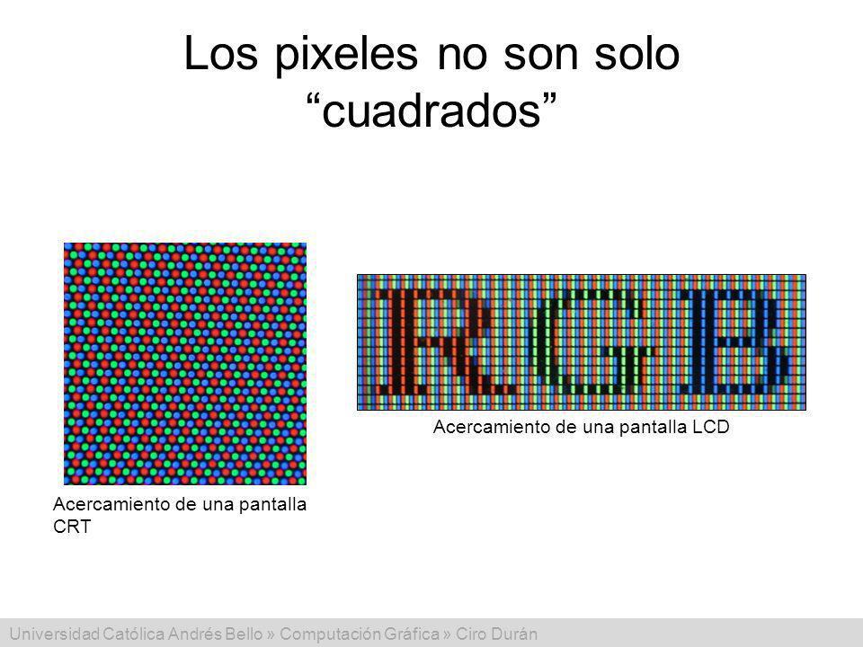 Los pixeles no son solo cuadrados