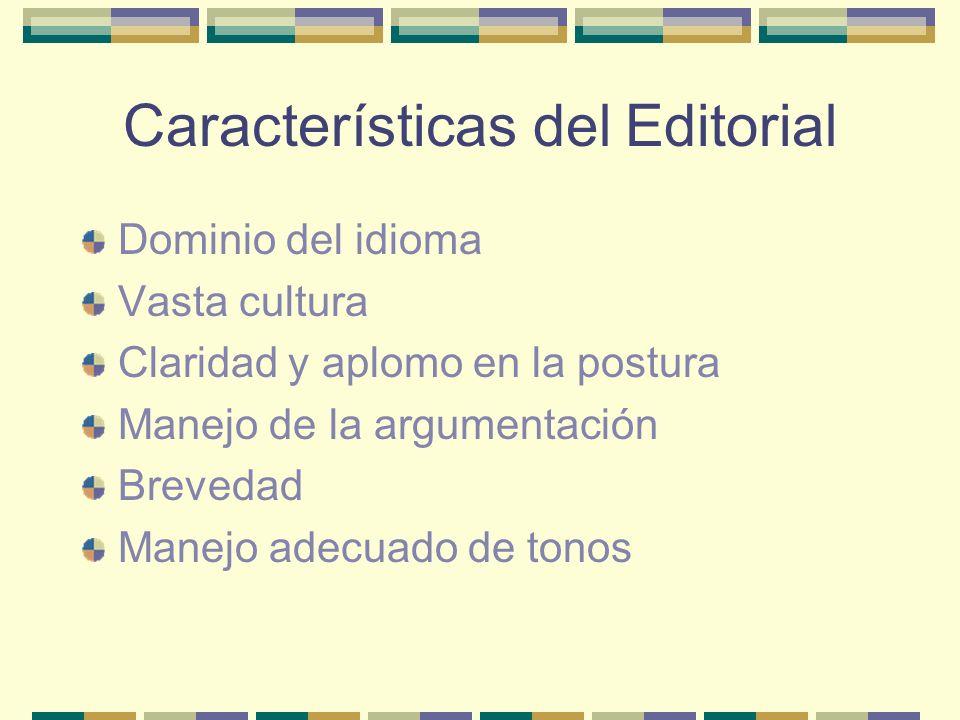 Características del Editorial