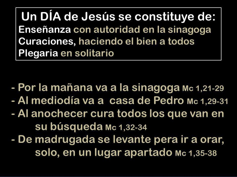 Un DÍA de Jesús se constituye de:
