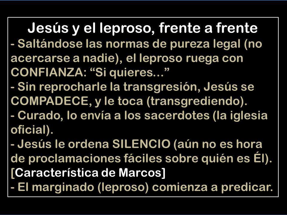 Jesús y el leproso, frente a frente