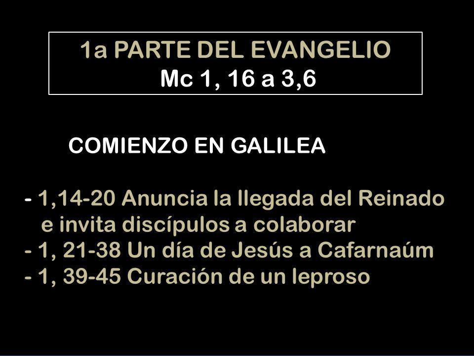 1a PARTE DEL EVANGELIO Mc 1, 16 a 3,6