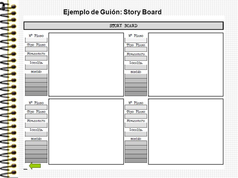 Ejemplo de Guión: Story Board
