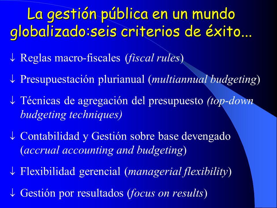 La gestión pública en un mundo globalizado:seis criterios de éxito...