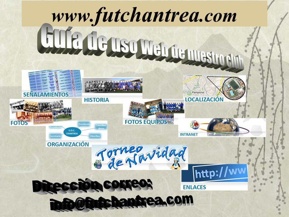 Guía de uso Web de nuestro club