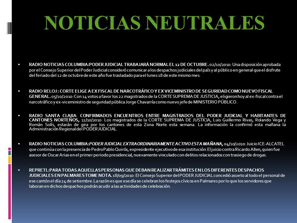 NOTICIAS NEUTRALES