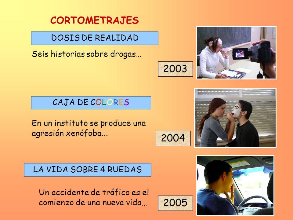 CORTOMETRAJES 2003 2004 2005 DOSIS DE REALIDAD