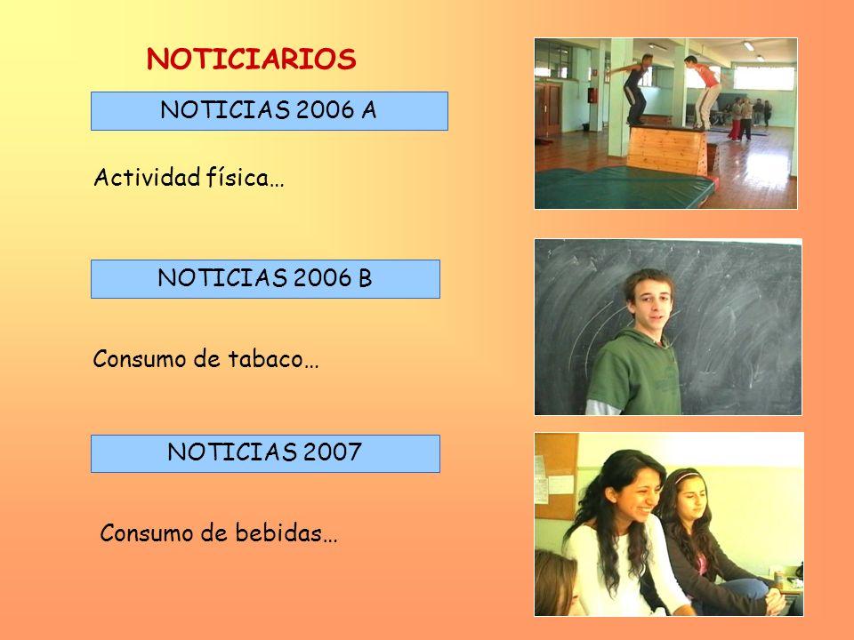 NOTICIARIOS NOTICIAS 2006 A Actividad física… NOTICIAS 2006 B