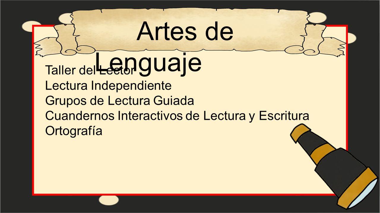 Artes de Lenguaje Taller del Lector Lectura Independiente