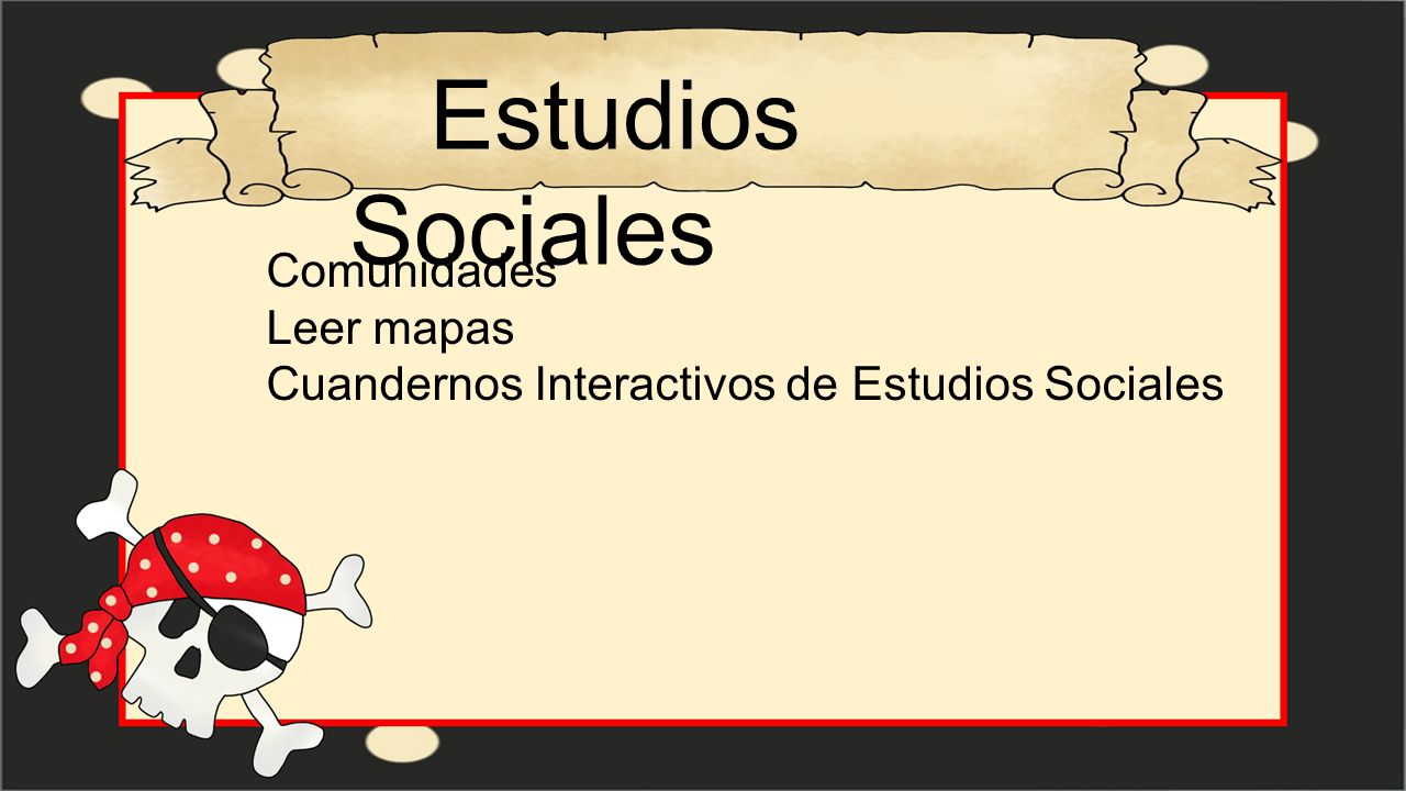 Estudios Sociales Comunidades Leer mapas
