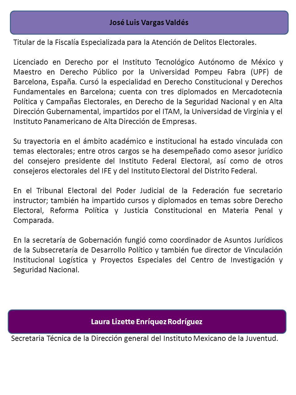 José Luis Vargas Valdés Laura Lizette Enríquez Rodríguez