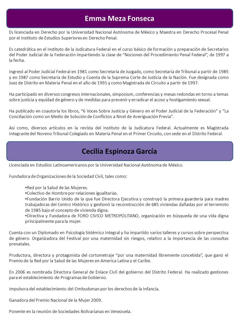 Cecilia Espinoza García